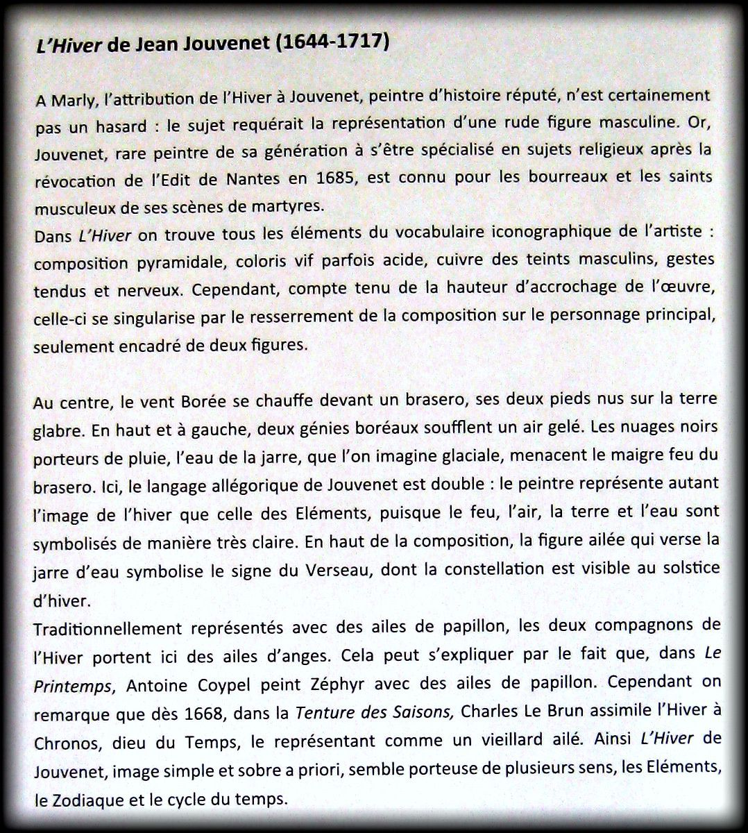 L'Hiver de Jean Jouvenet