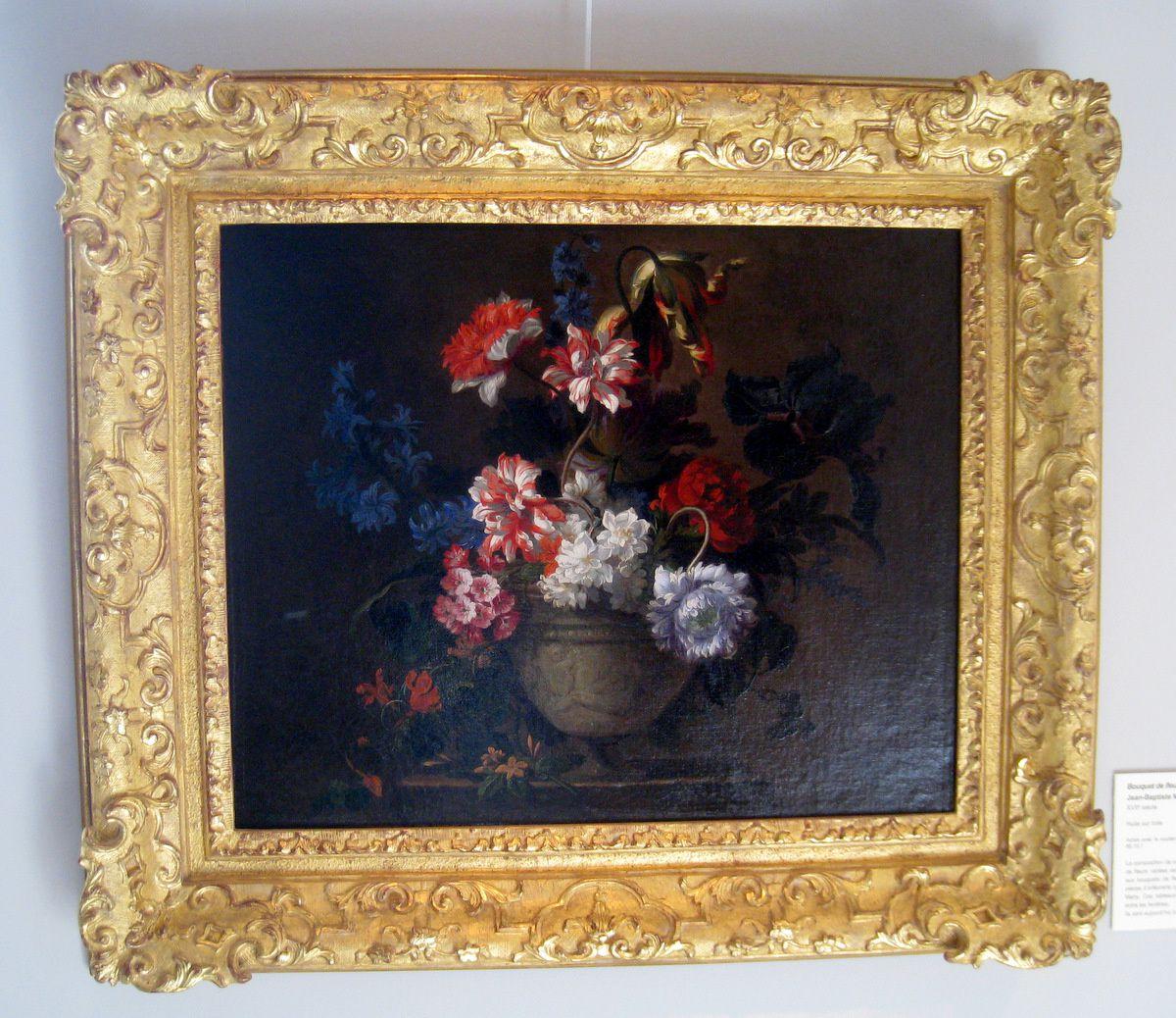 Jean-Baptiste Monnoyer, bouquet de fleurs dans un vase