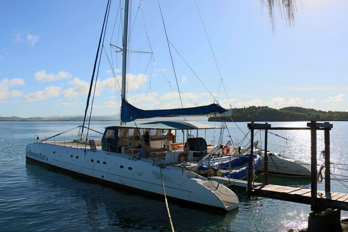 Marina et catamarans, Martinique
