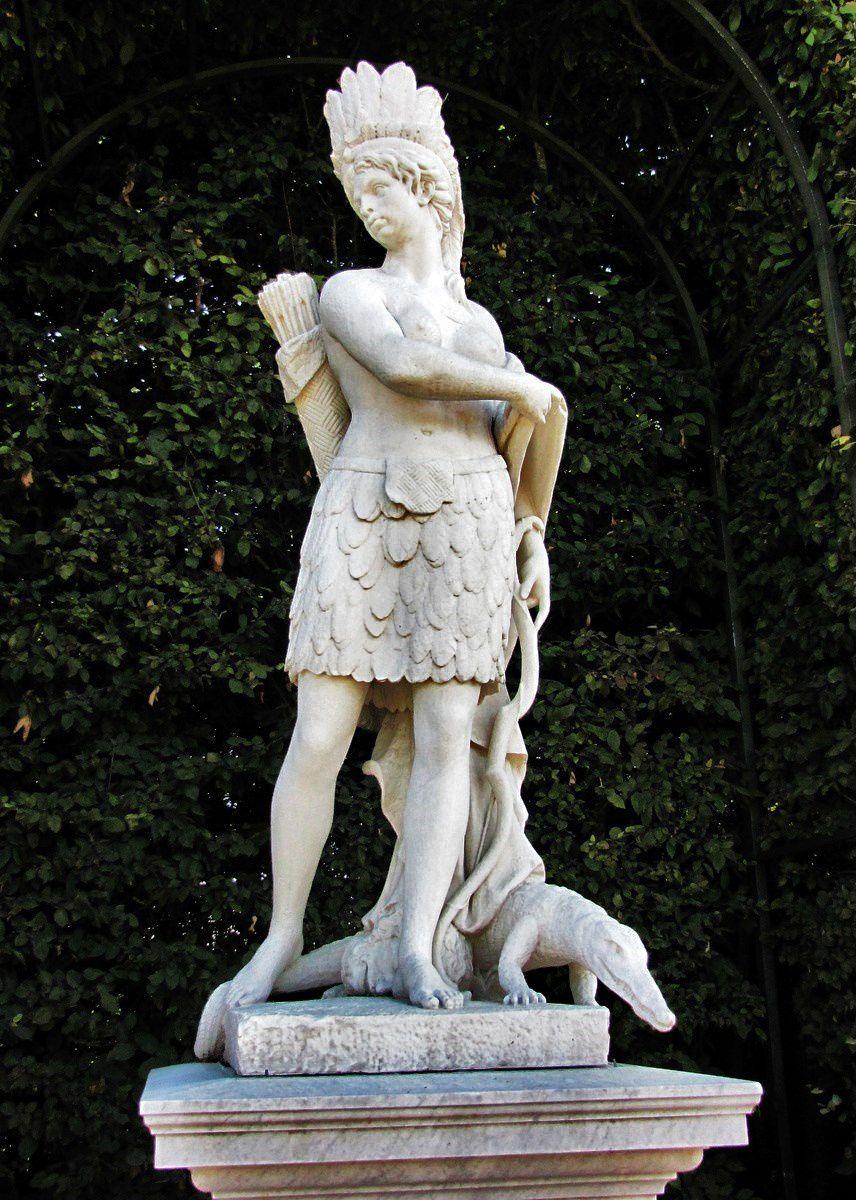 Gilles Guérin, l'Amérique (statue)