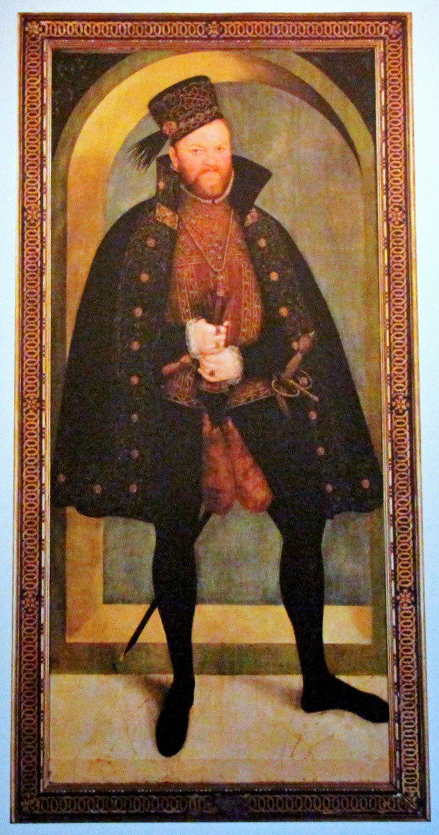 Lucas Cranach le jeune, portrait d'Auguste 1er de Saxe