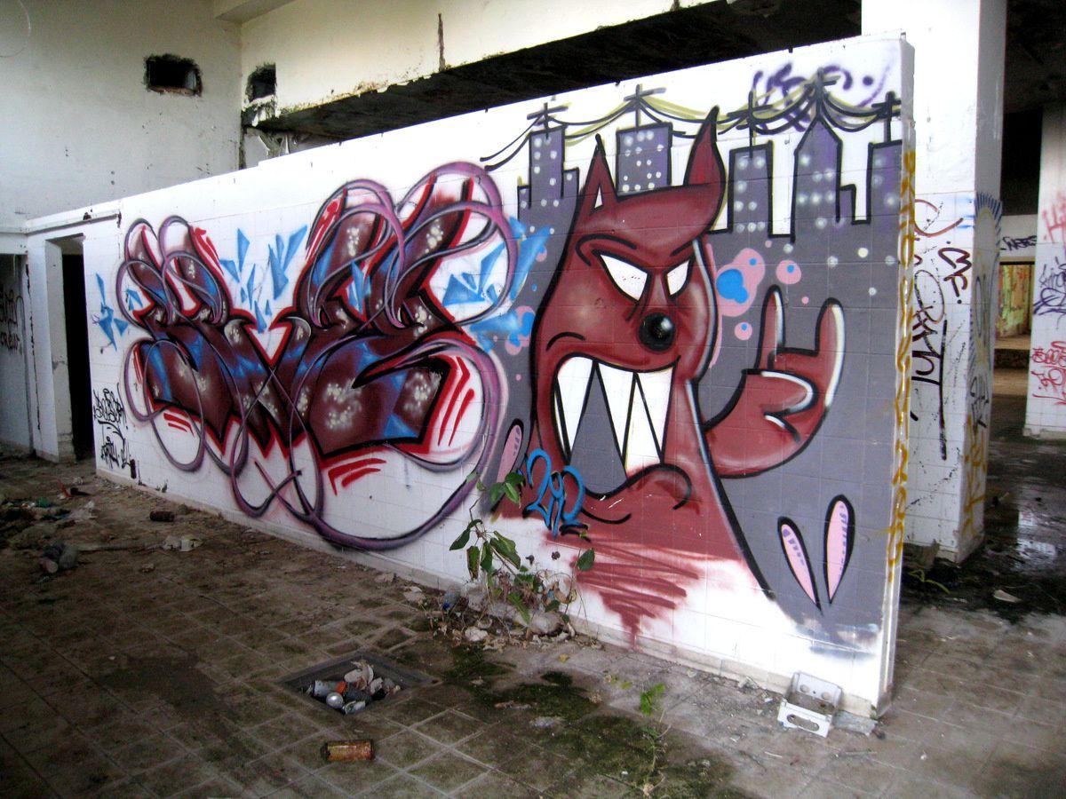 Hôtel abandonné et graffitis (2/2), Martinique