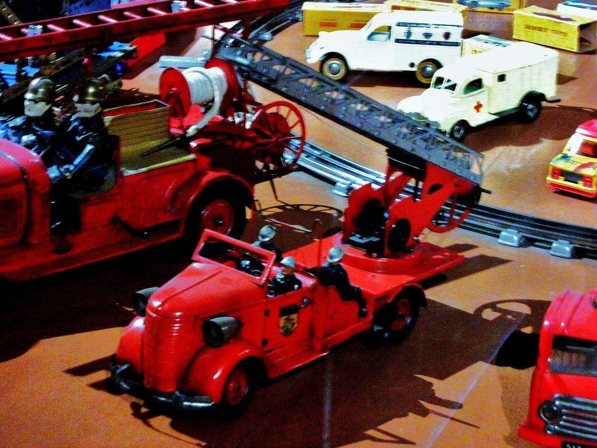 Véhicules de pompiers, musée du jouet (Poissy)