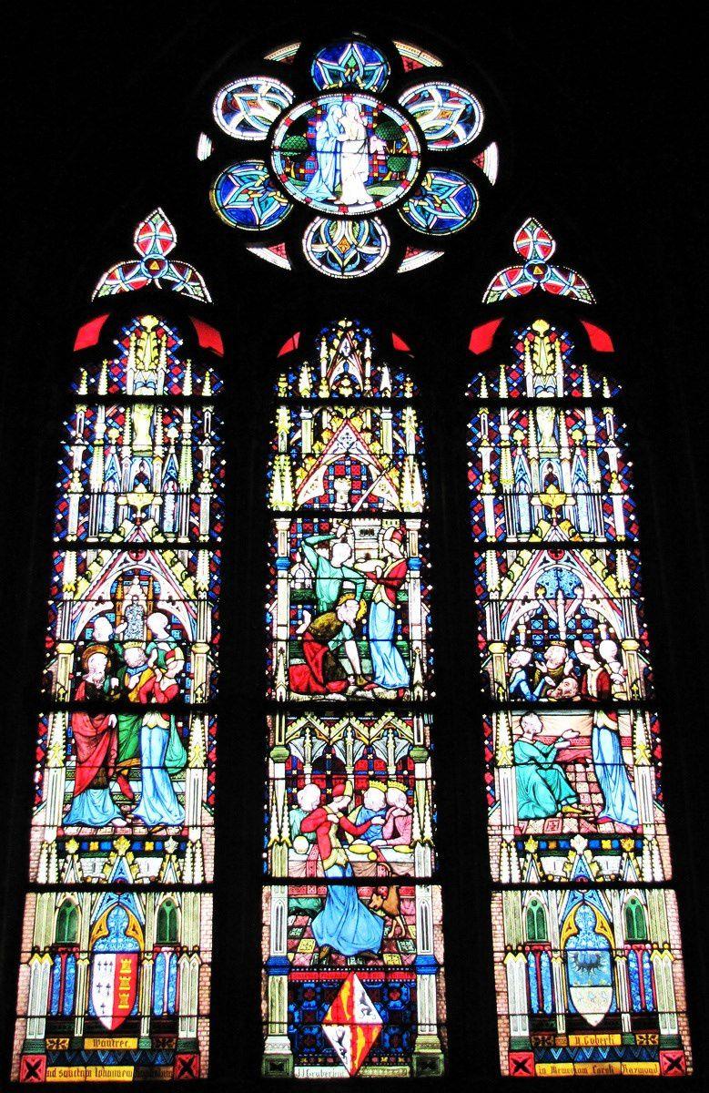 Un vitrail de la cathédrale Notre-Dame de Verdun