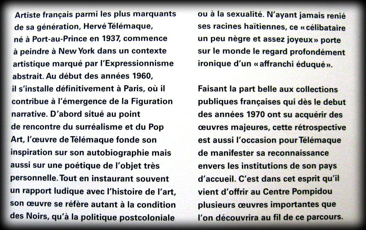 Oeuvres d'Hervé Télémaque