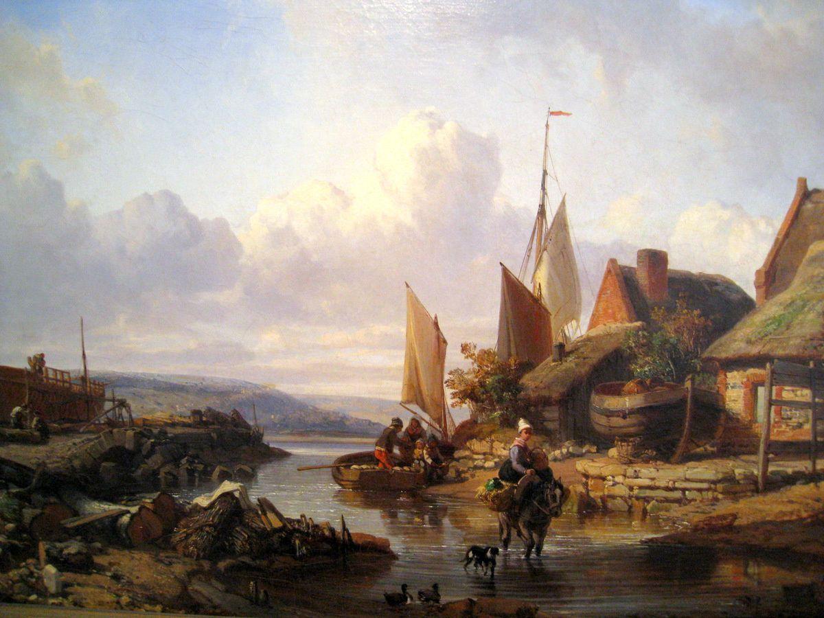Trouville, le Quernet, tableau de Charles Mozin - Le blog de acbx41