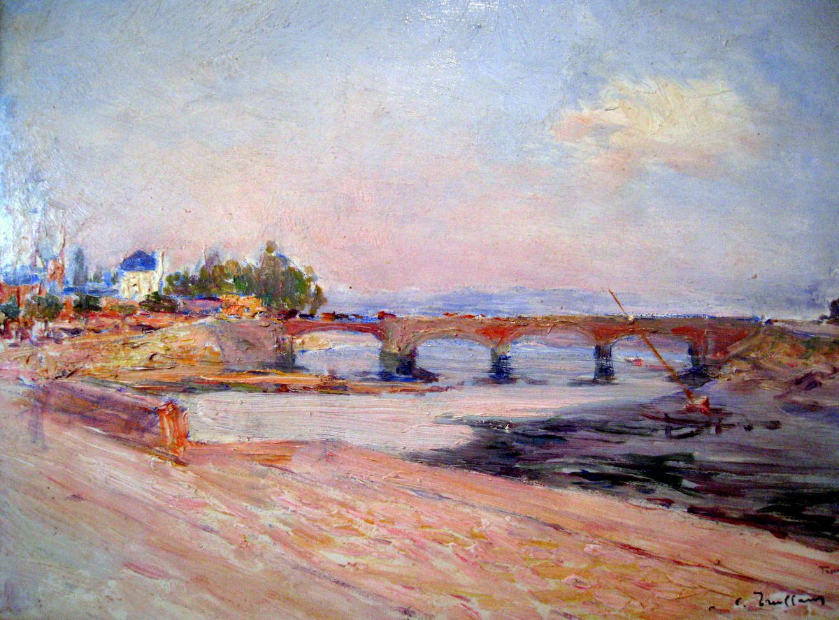 Trouville, le pont sur la Touques (tableau de Ferdinand-Fortuné Truffaut)