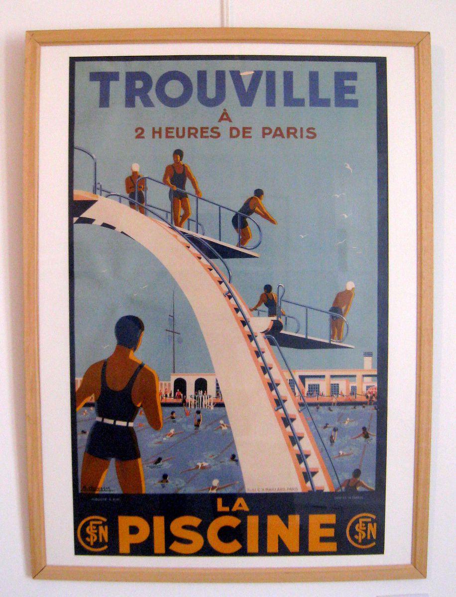 Affiche d'A. Molusson et aquarelle d'Eugène Boudin