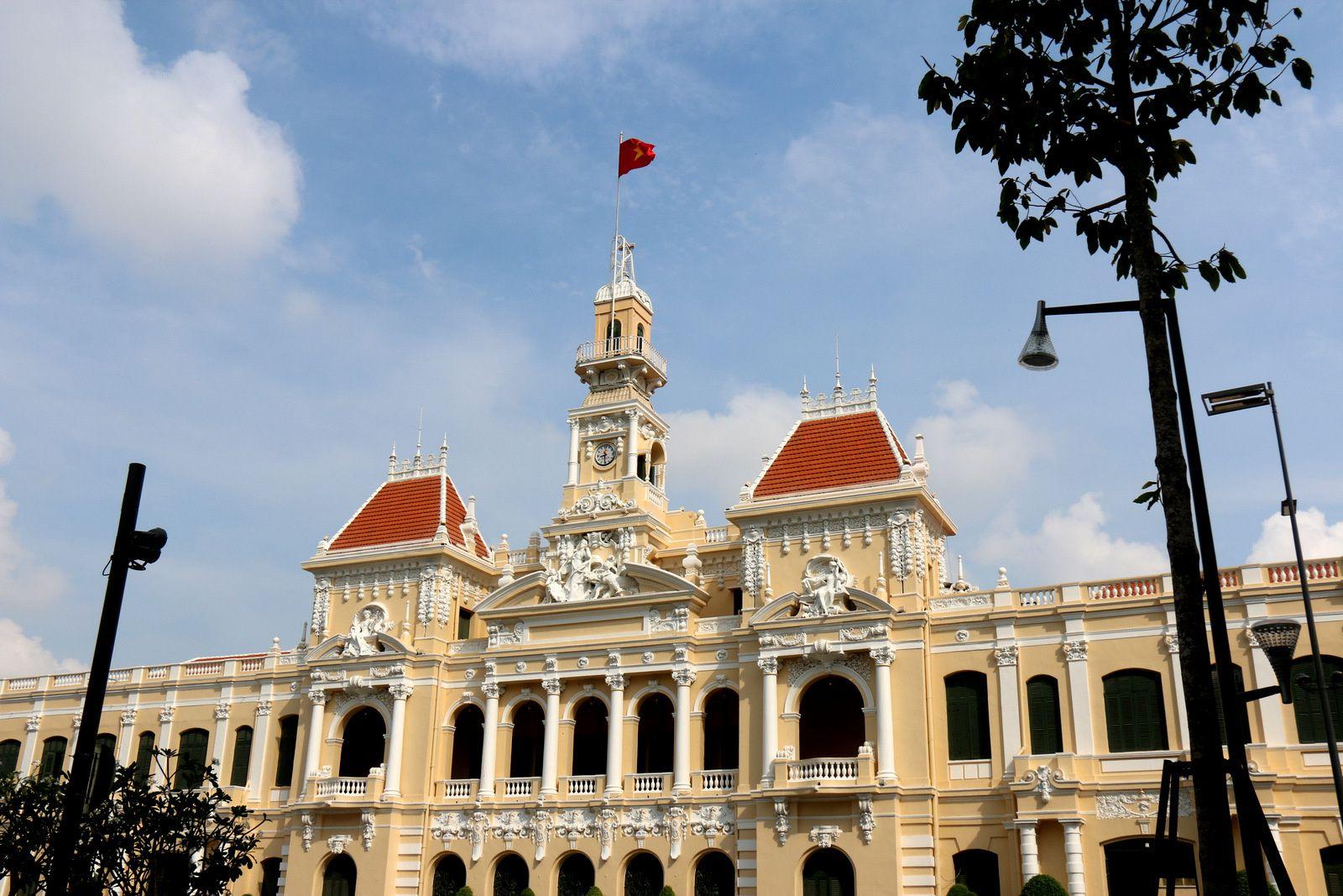 L'Hôtel de Ville de Saïgon (Hô-Chi-Minh-Ville)