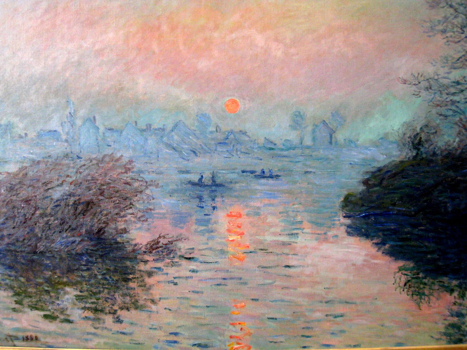 soleil couchant ..., tableau de Claude Monet