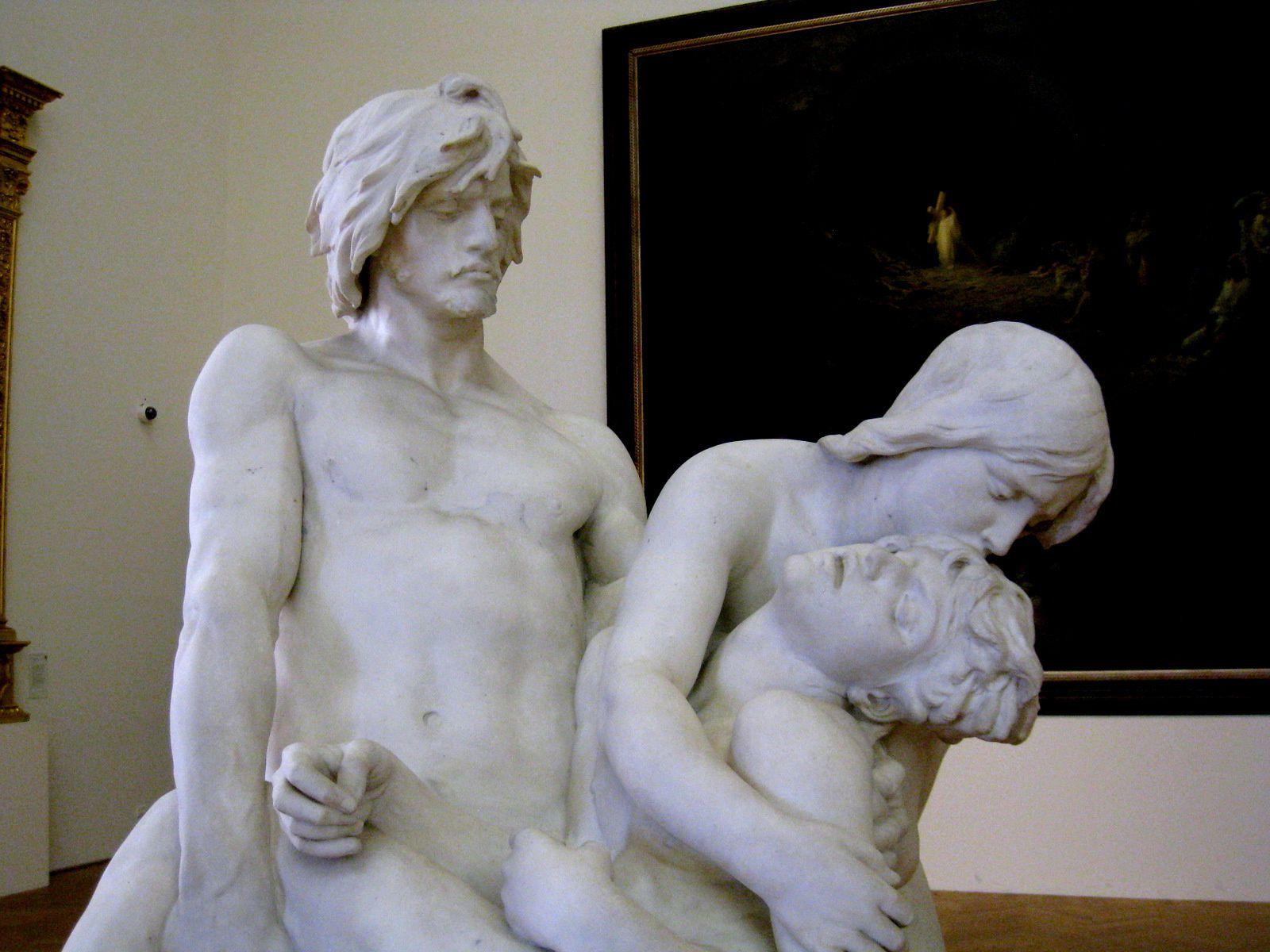 Les Premières Funérailles, sculpture de Louis Ernest Barrias