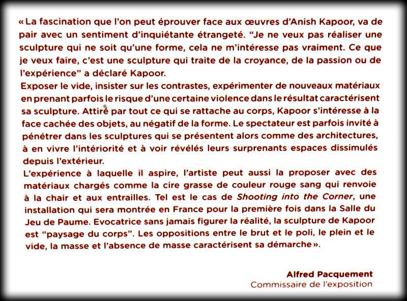 C-Curve d'Anish Kapoor dans les jardins de Versailles