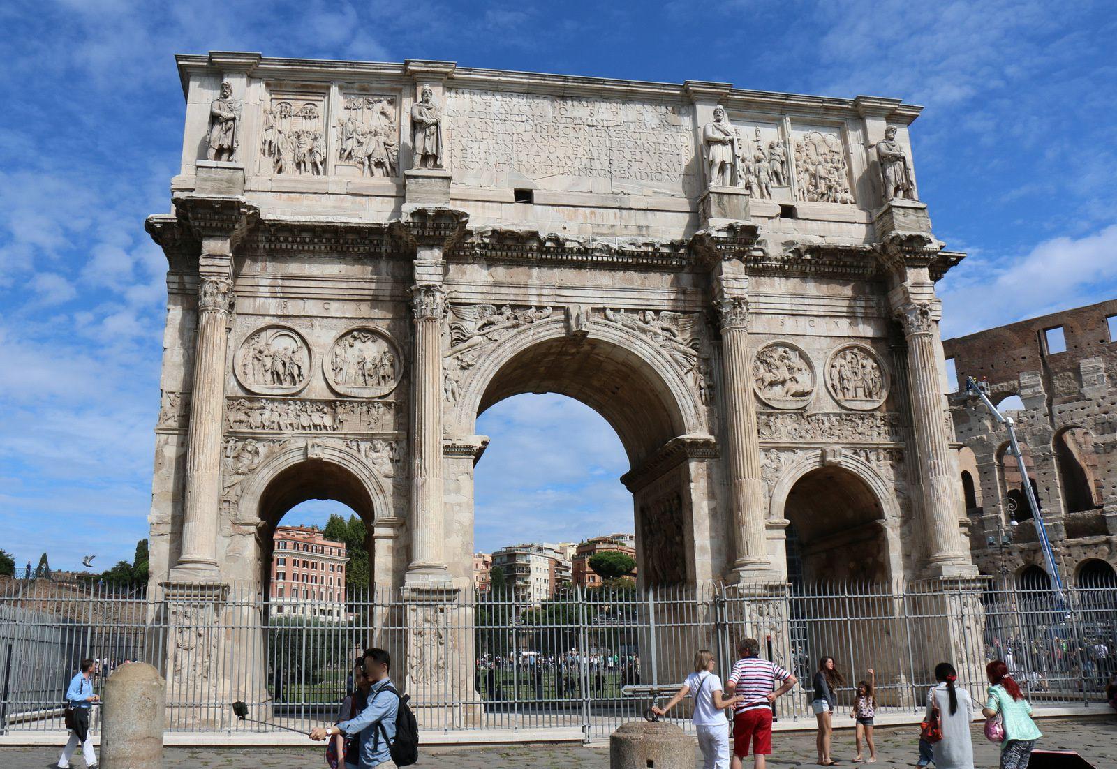 L'arc de Constantin, Rome