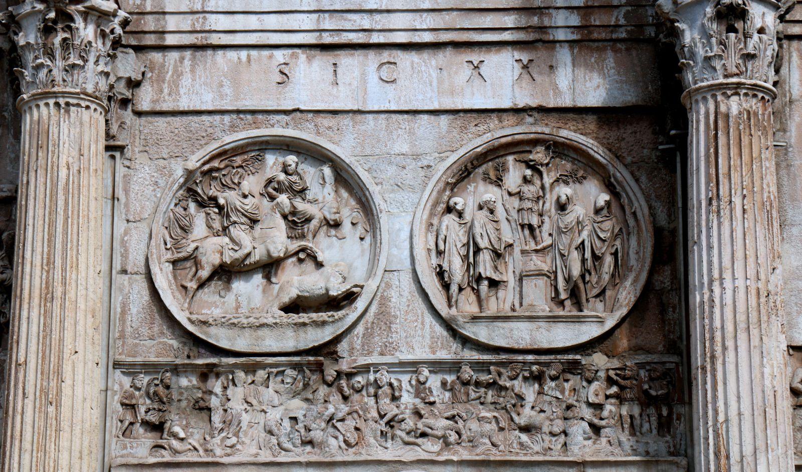 Départ à la chasse et Un sacrifice à Silvanus