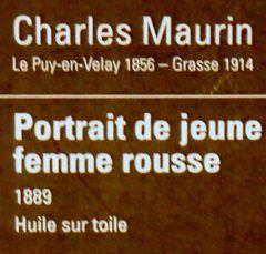 Portrait de jeune femme rousse par Charles Maurin