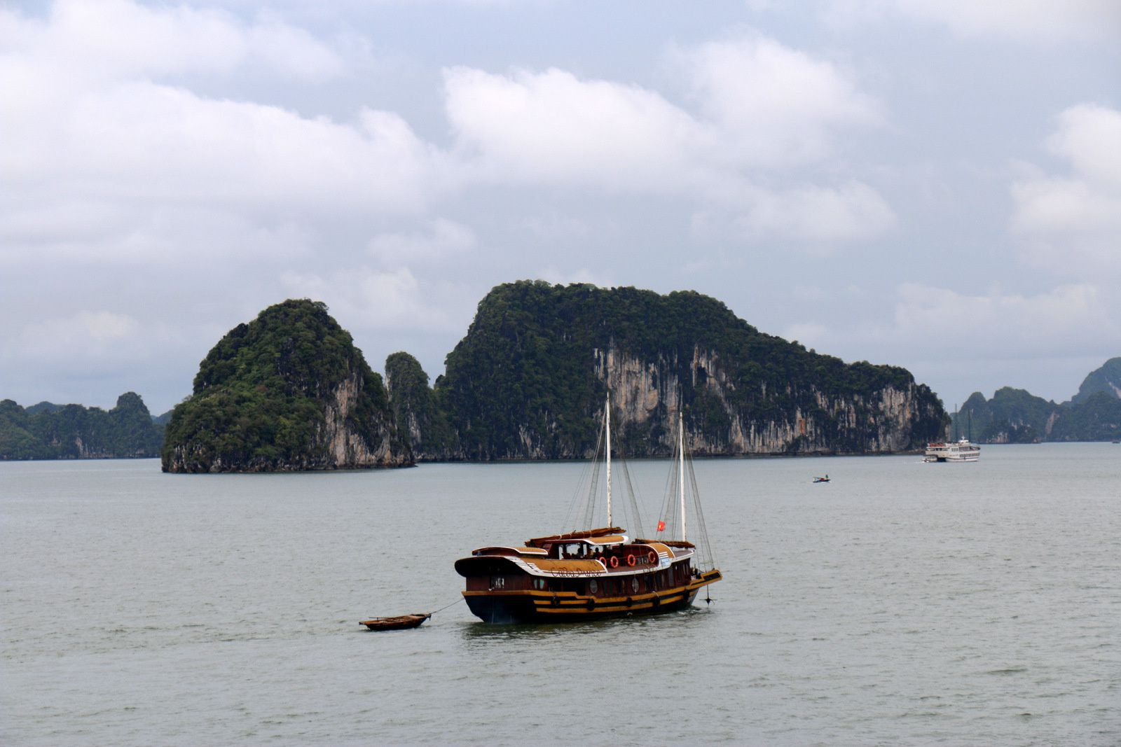 Paysages de la baie d'Halong au Vietnam