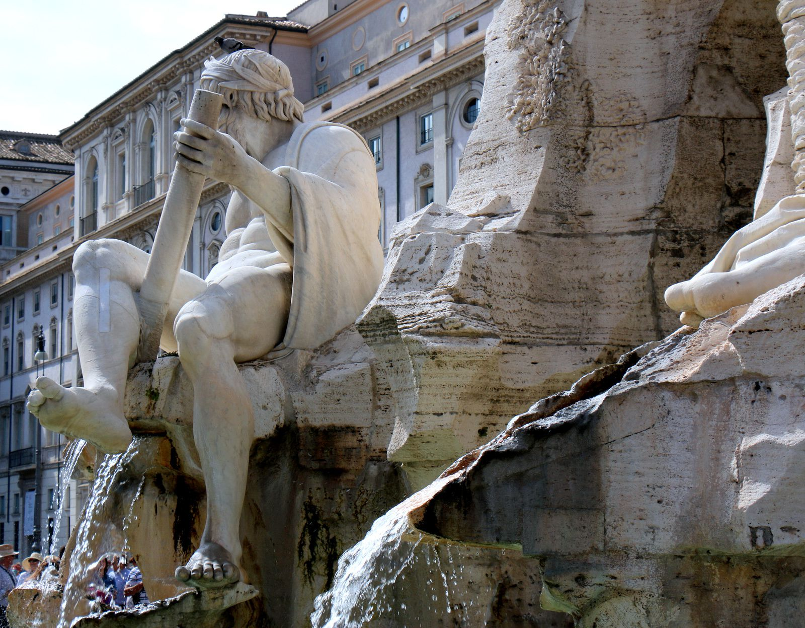 Fontaine des Quatre-Fleuves, piazza Navona à Rome (1/2)