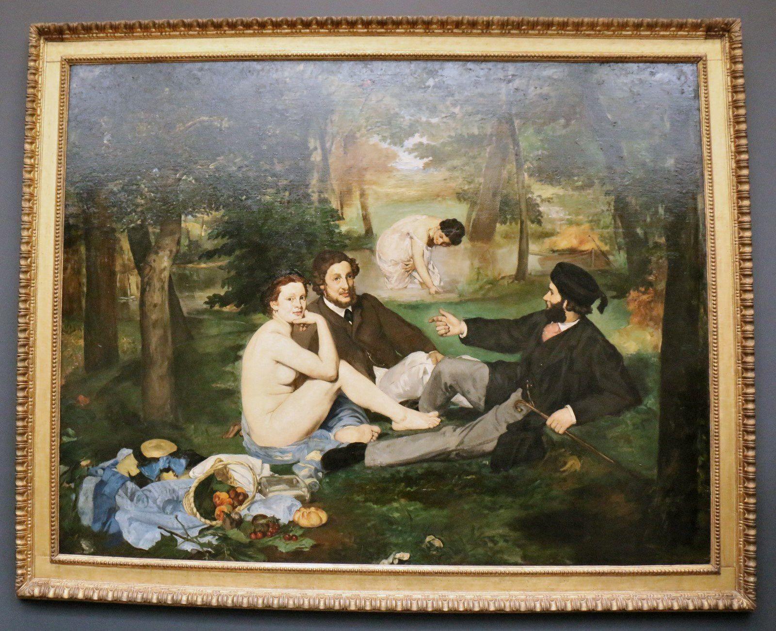 Le déjeuner sur l'herbe, huile sur toile d'Edouard Manet