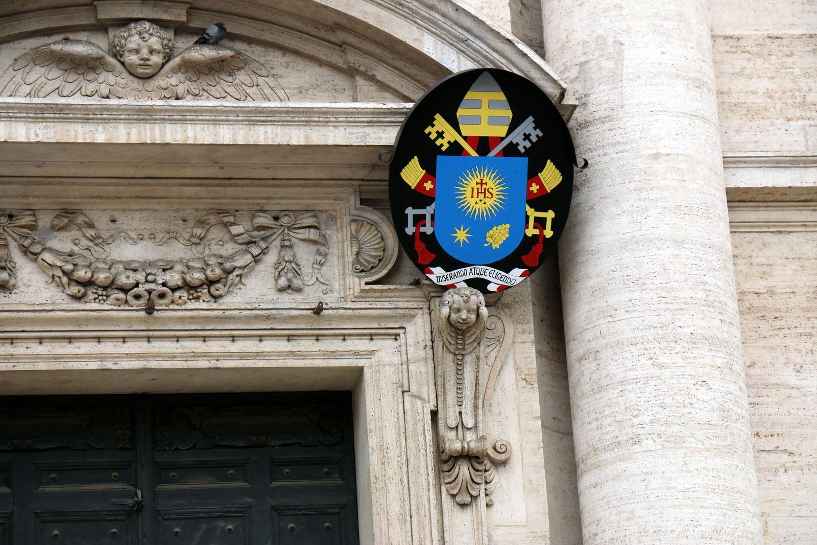 Façade de l'église de Gesu, Rome