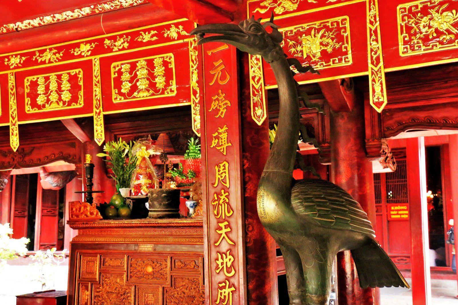 Temple de Confucius (l'entrée), temple de la littérature Van Miêu-Quôc Tu Giam