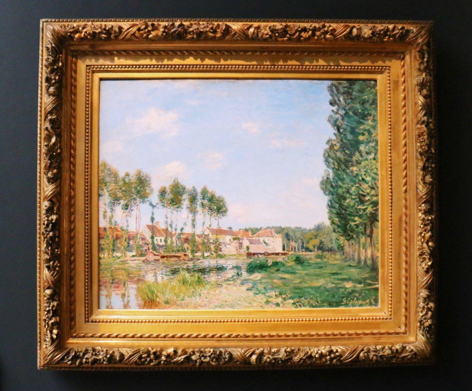 Moret, bords du Loing, huile sur toile d'Alfred Sisley