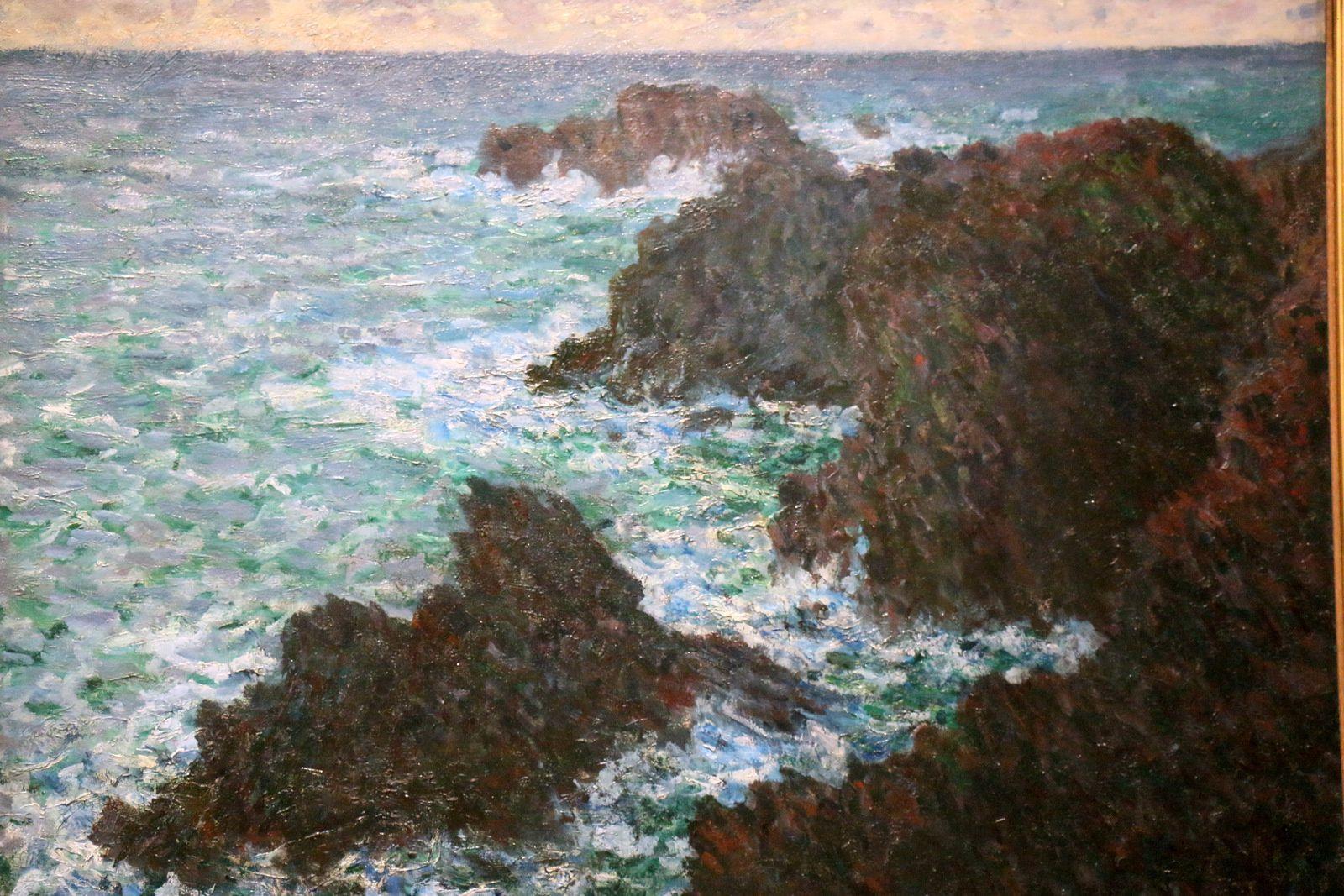 Claude Monet, Les rochers de Belle-Île, la Côte sauvage