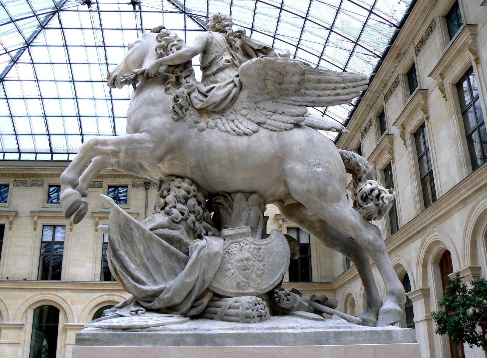 La Renommée du Roi par Coysevox, Cour Marly (Louvre)