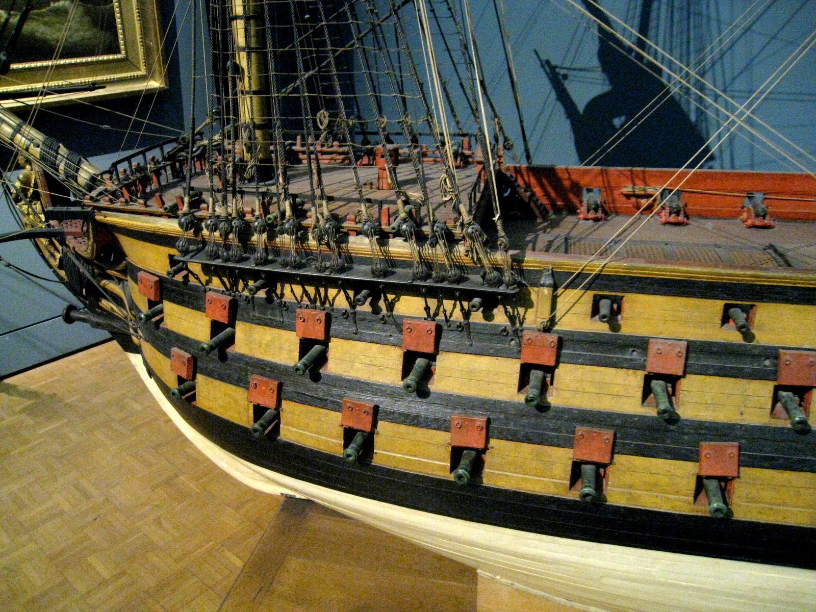 Le Royal Louis, vaisseau à trois ponts du XVIIIe siècle