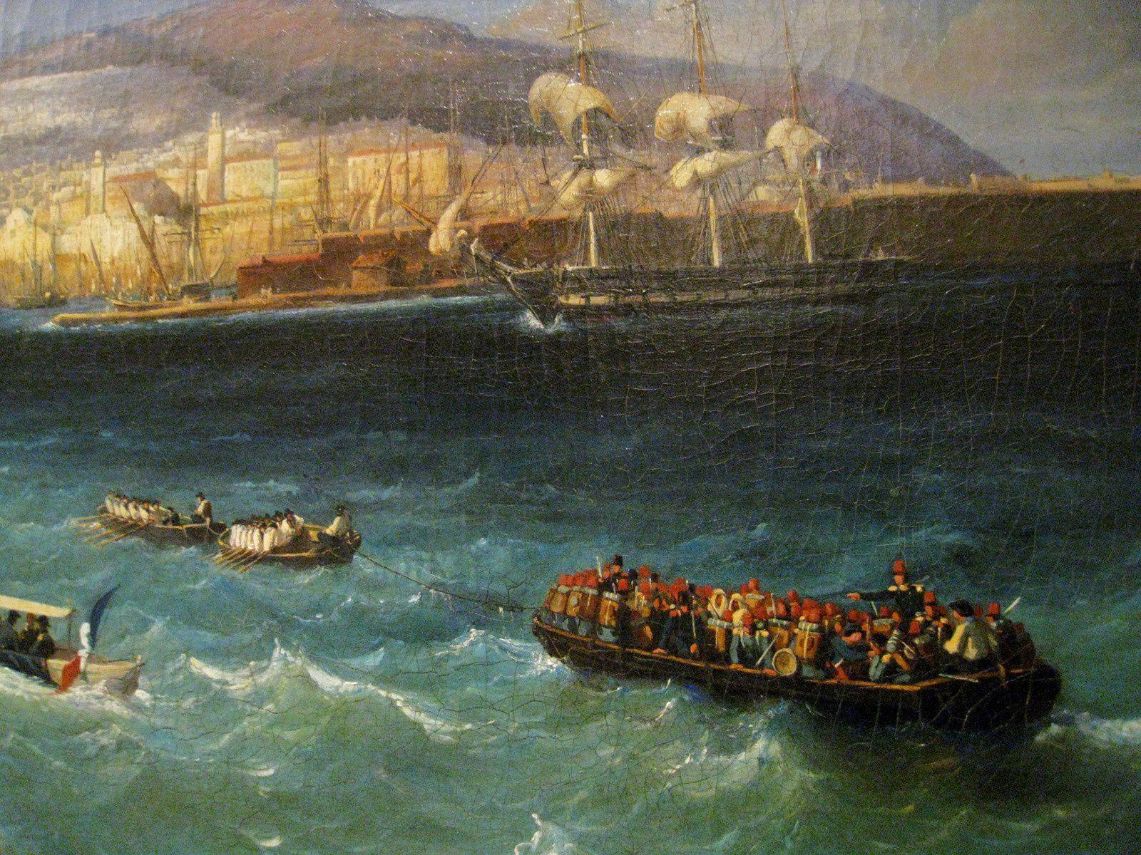 Barthélémy Lauvergne, vue du port et de la ville d'Alger
