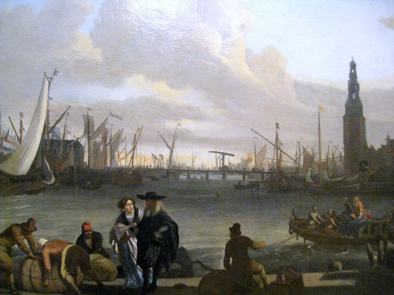 Ludolf Backhuysen, vue d'Amsterdam