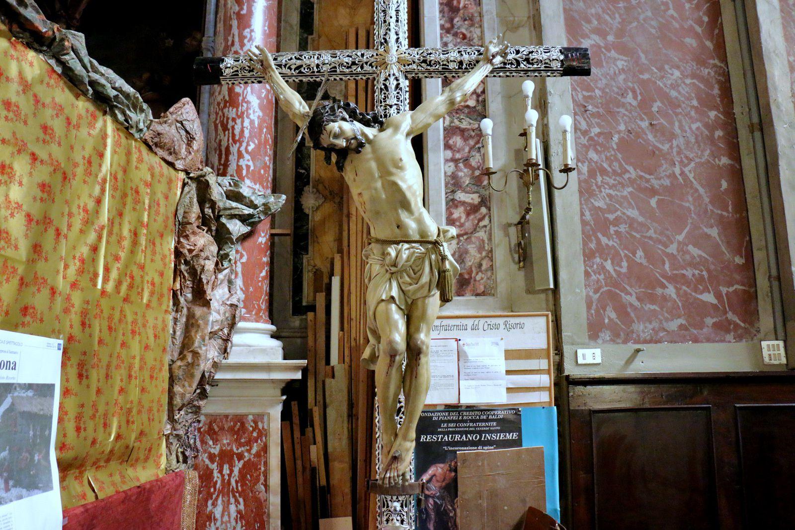 Autel et Nativité, Oratorio del Cristo Risorto, Savone (Italie)