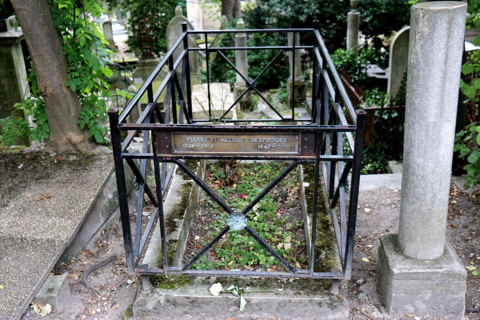 Pierre et Hélène Desproges, sépulture au cimetière du Père Lachaise