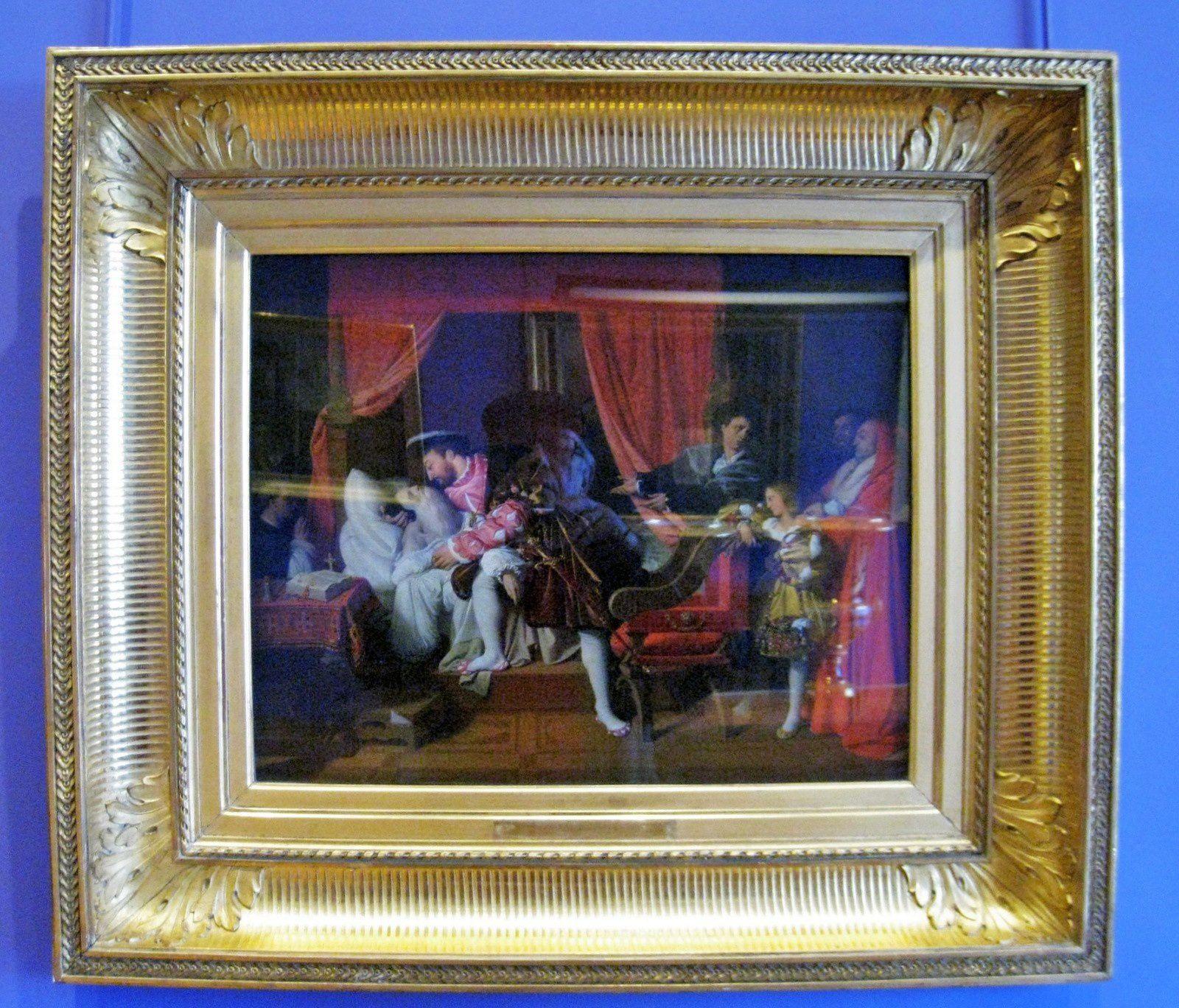 Jean-Auguste Ingres, François 1er reçoit les derniers soupirs de Léonard de Vinci