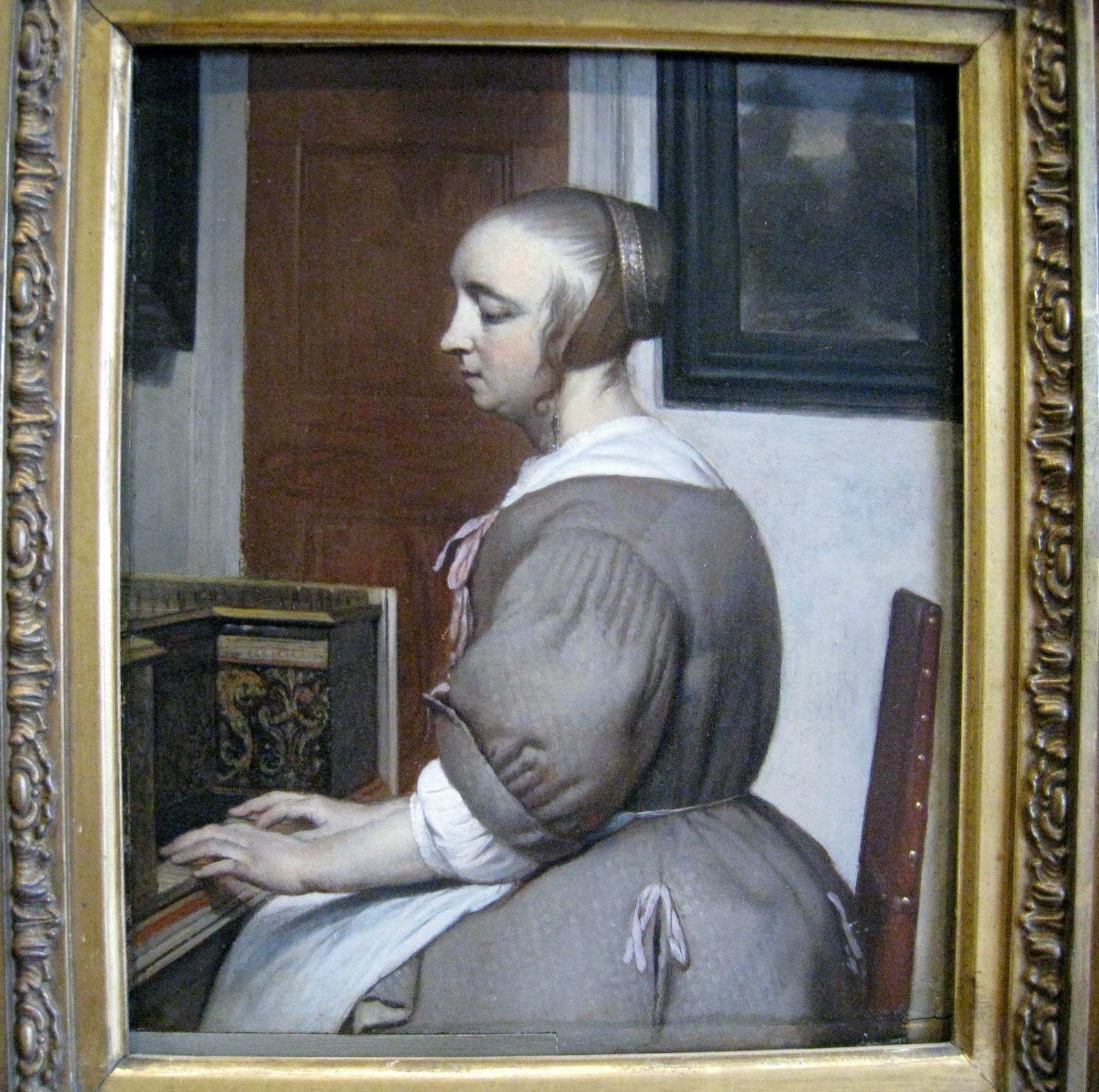 Gabriel Metsu, femme au virginal
