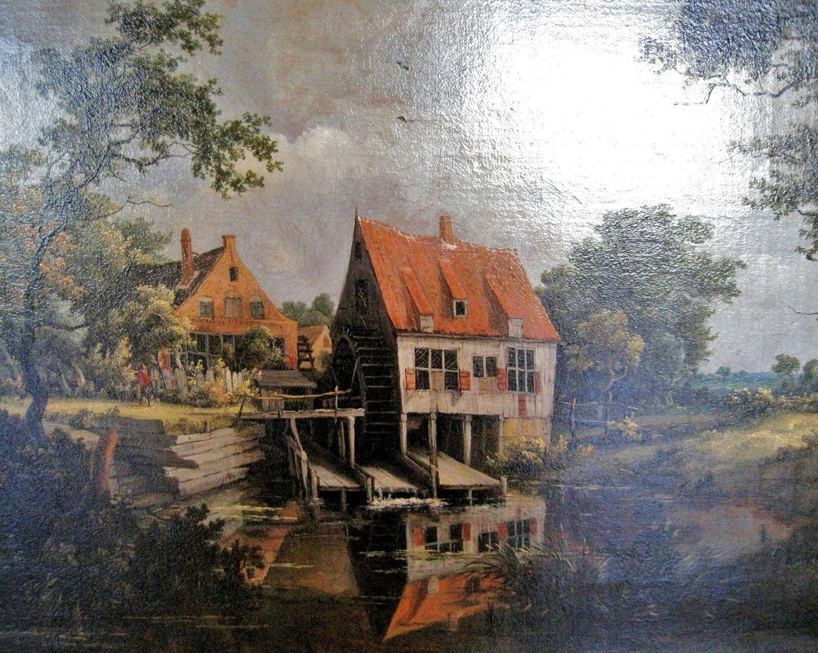 Meindert Hobbema, le moulin à eau