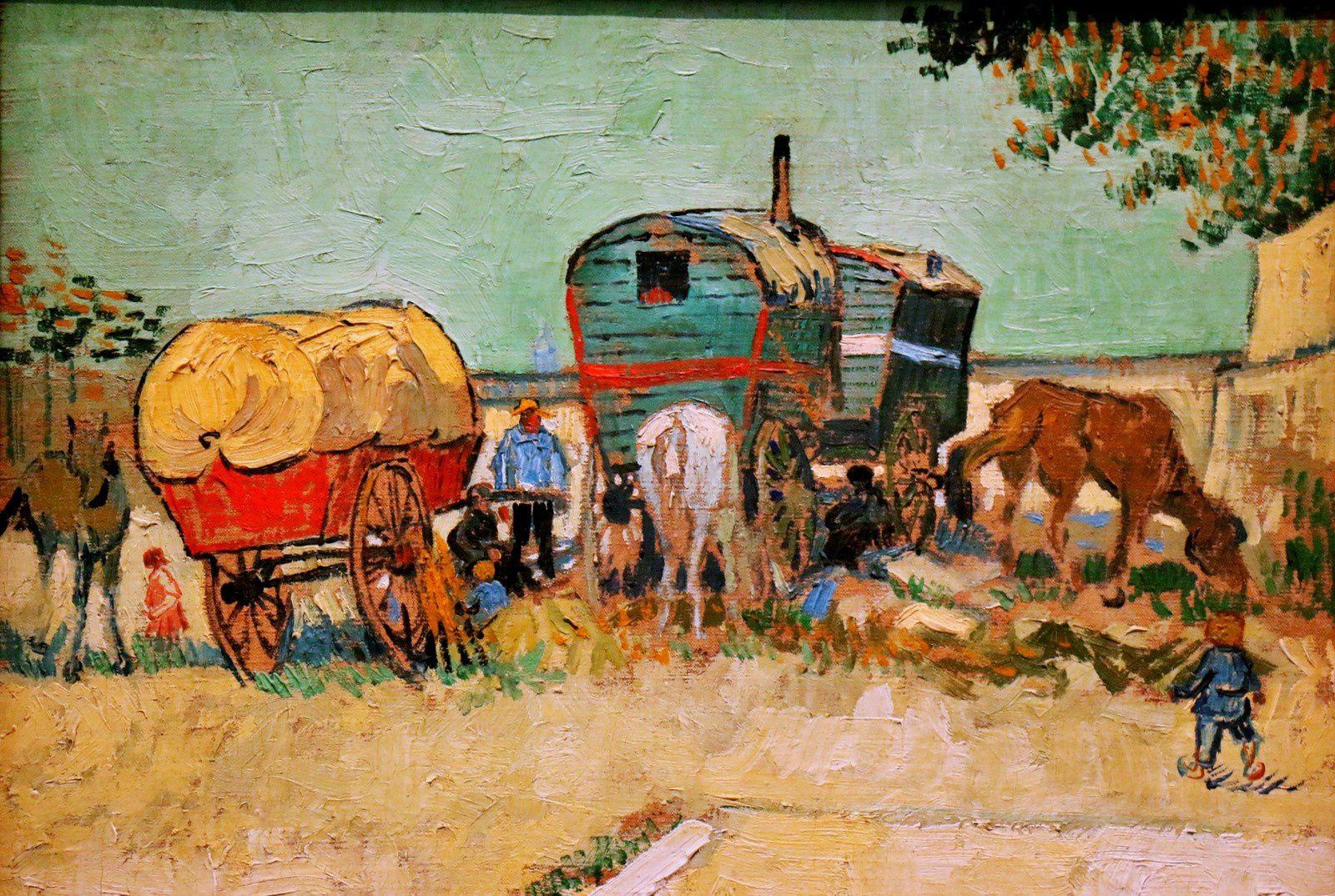 Vincent Van Gogh, les Roulottes...
