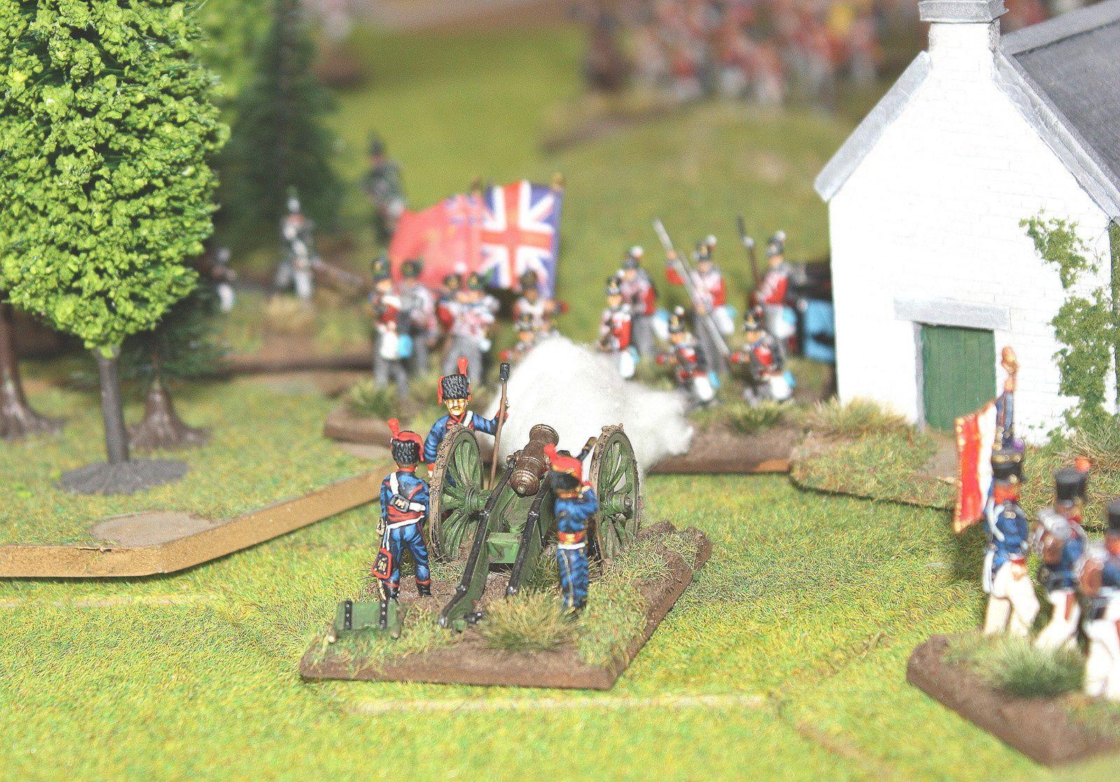La victoire sera britannique par 5 unités françaises détruites entièrement contre 4!  La partie fut remplie de rebondissement et beaucoup de mal chance aux dés de chaque côté , on dira que le terrain était détrempé.