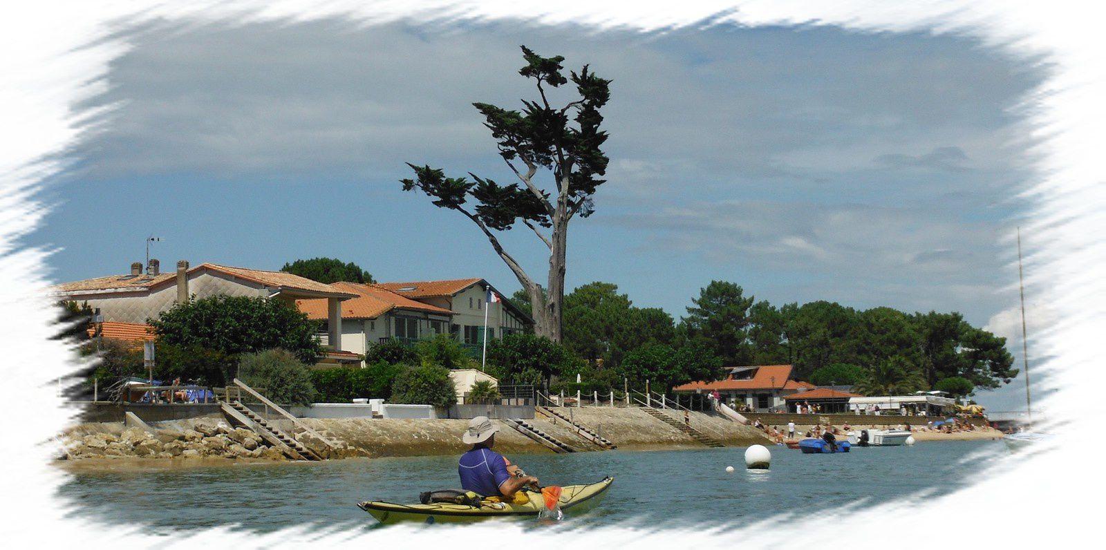 Navigation kayak vers le port de La Vigne - Cap Ferret