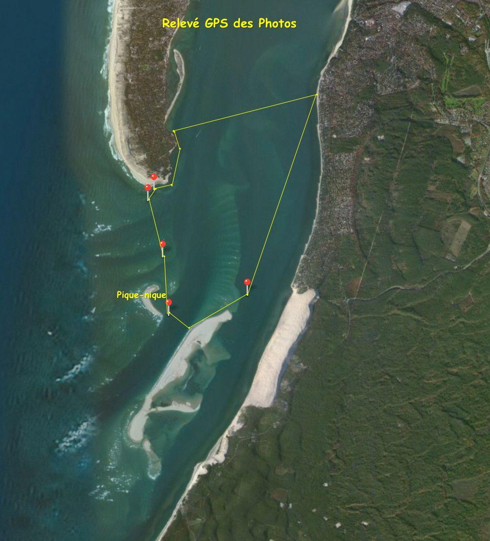 L'itinéraire réalisé à partir du relevé GPS des photos du jour.  é