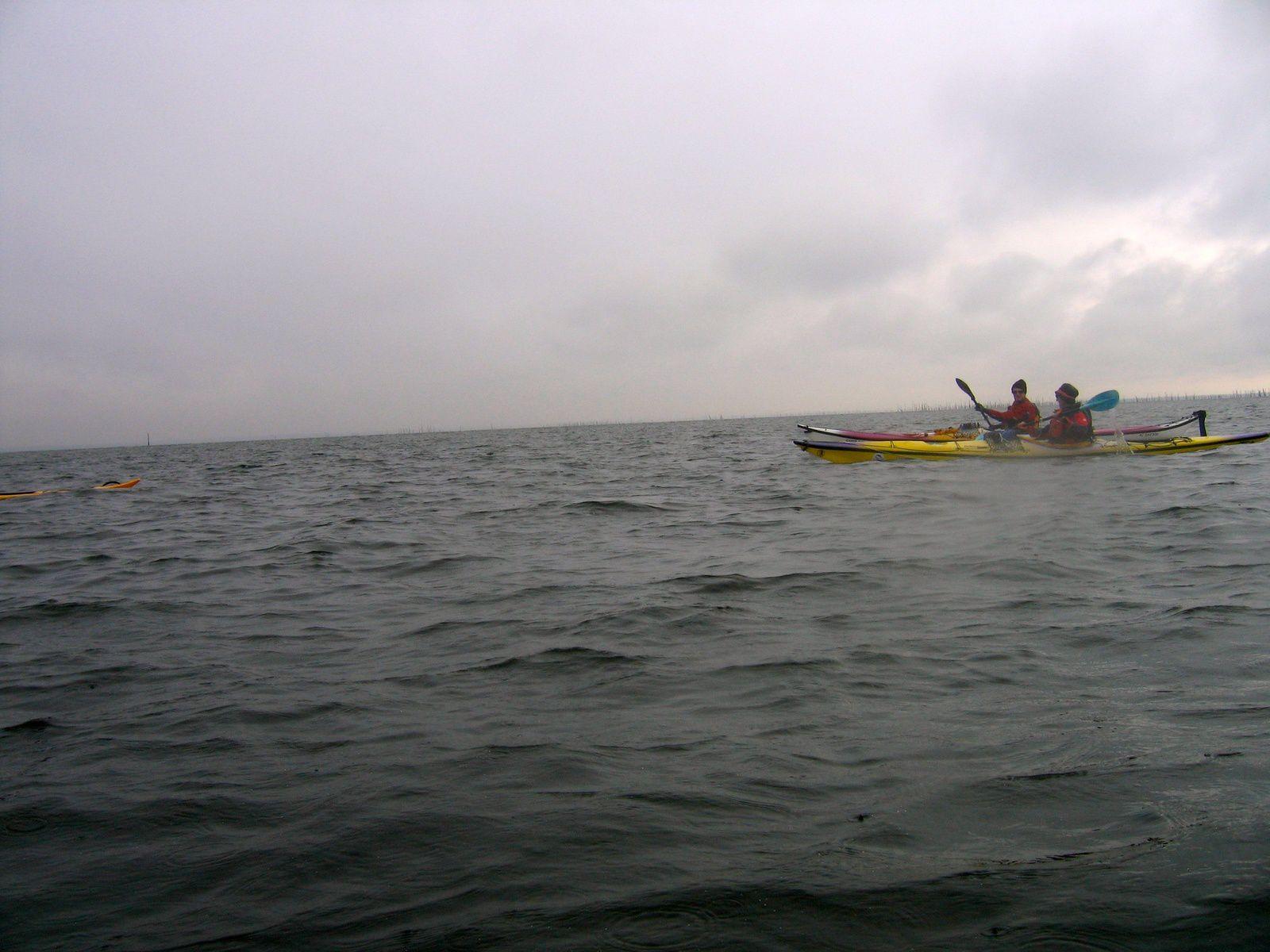 La navigation vers Taussat (au fond du Bassin d'Arcachon)