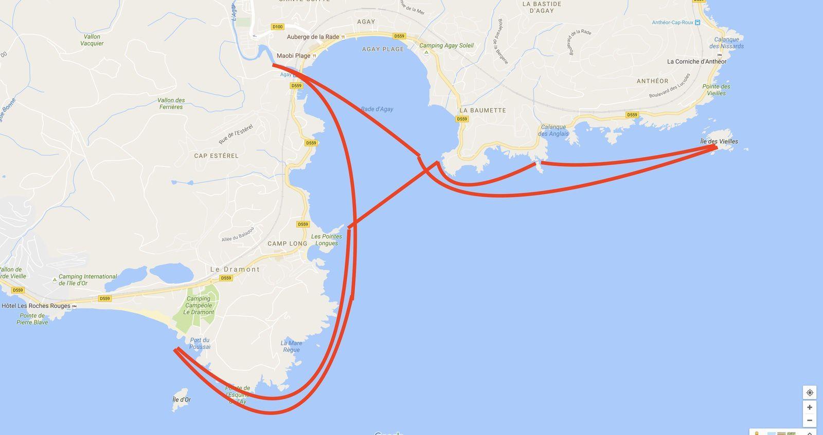 Le dramont episode 4 la baie d 39 agay ast kayak - Meteo port grimaud 14 jours ...