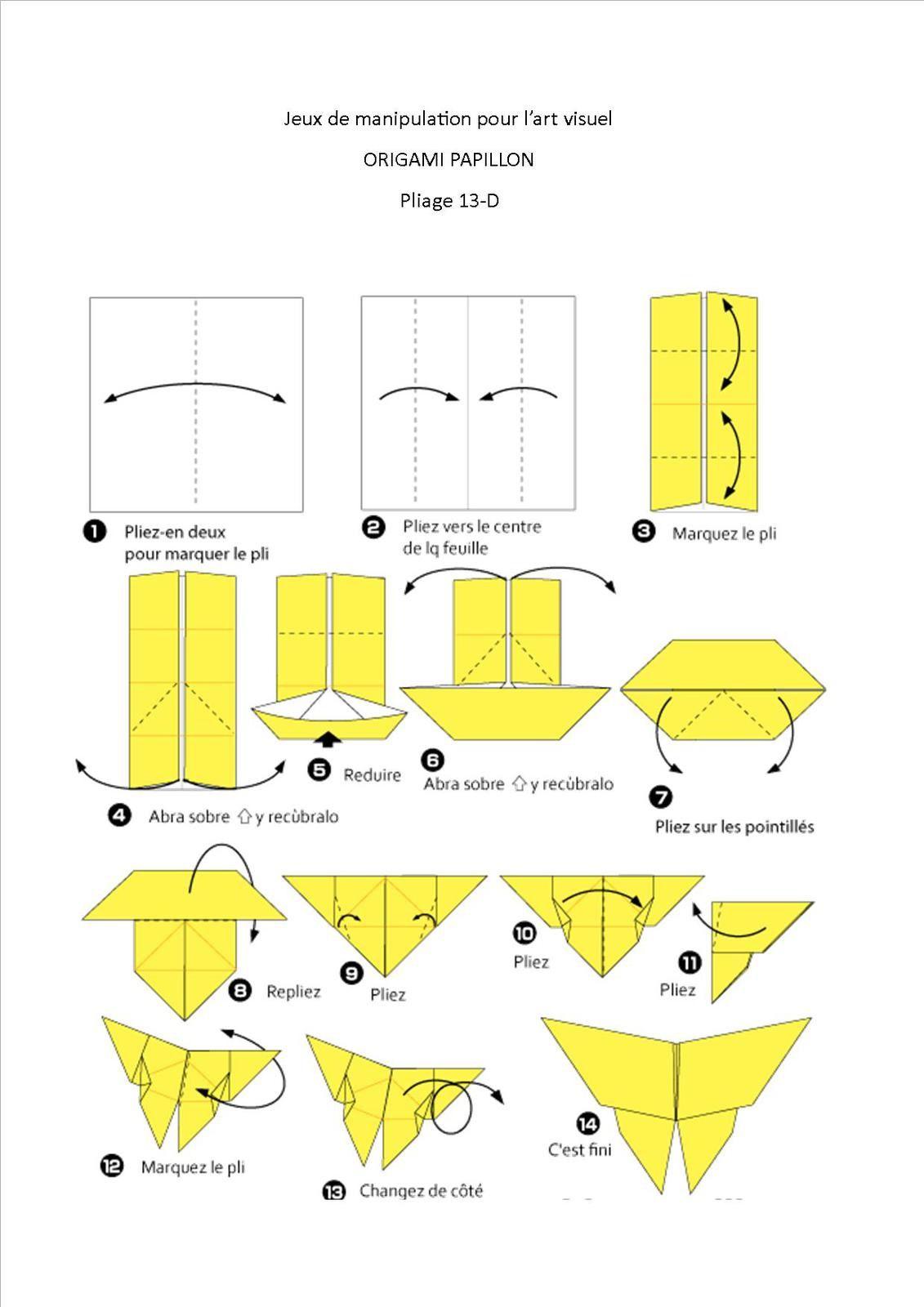 jeu de pliage origami papillon