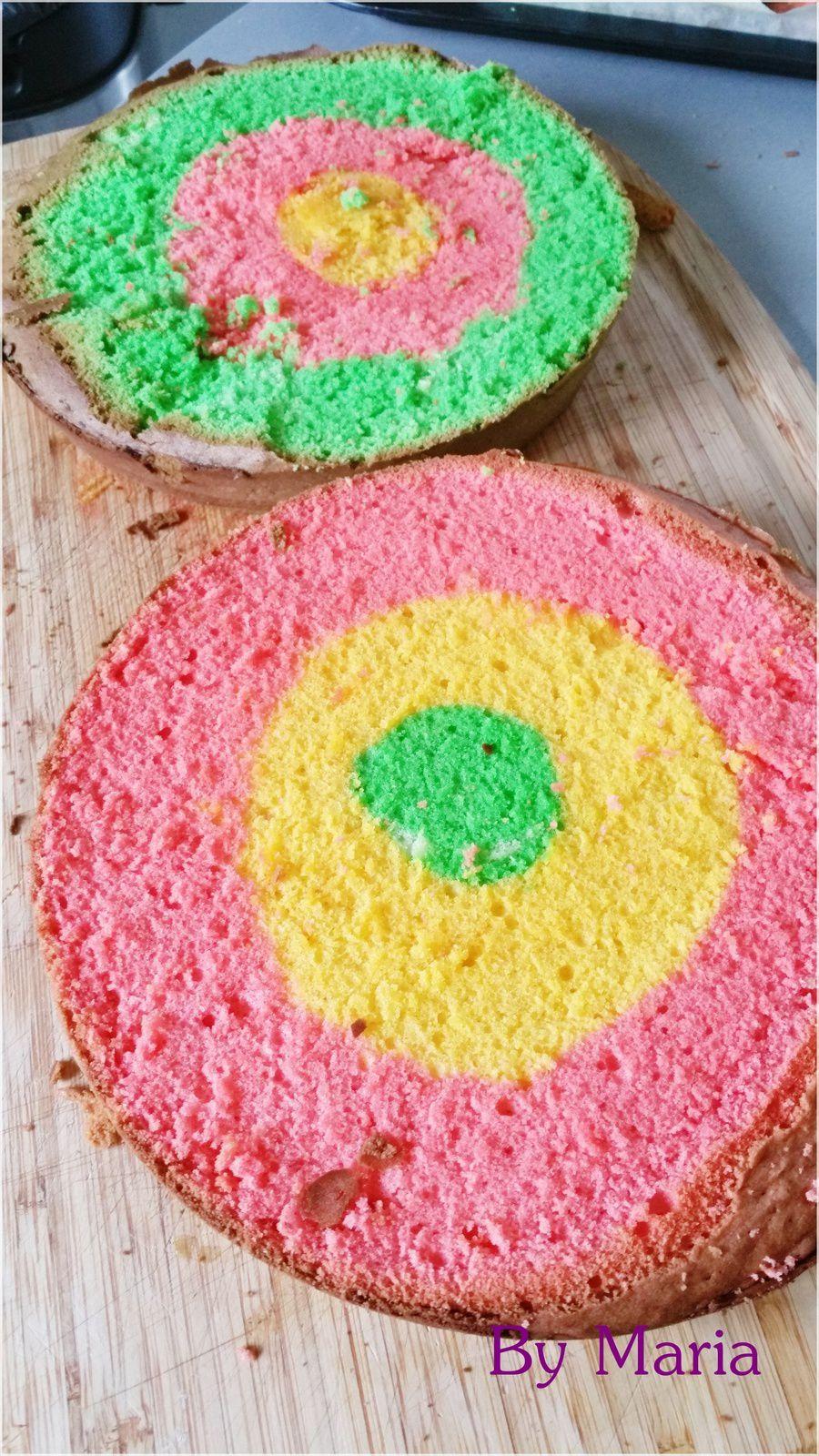 Cake Rainbow tricolore