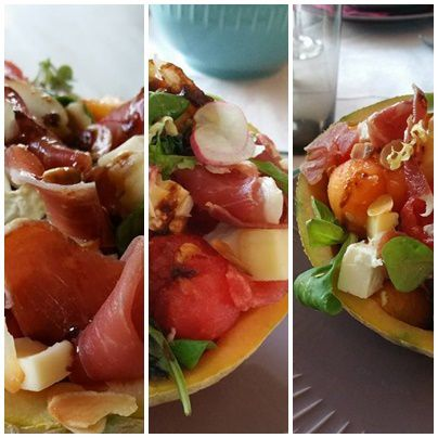 Salade d'été sucre-salé au melon &amp&#x3B; Pasteque