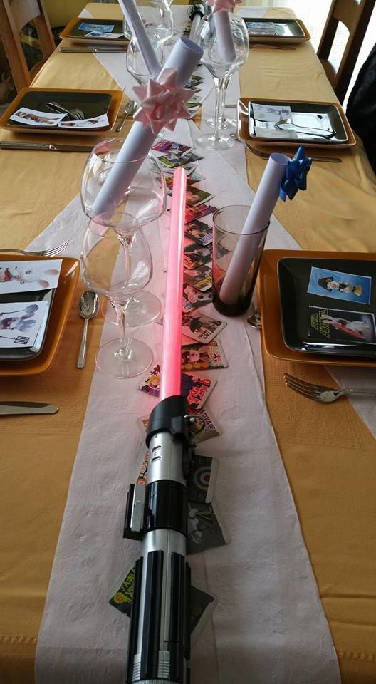 Déco de table Lapins Crétins &amp&#x3B; Star Wars