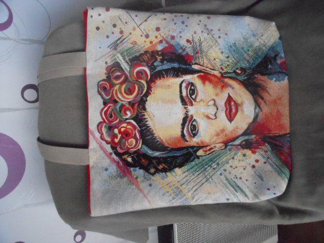 Grand cabas femme &quot&#x3B;frida kahlo&quot&#x3B;