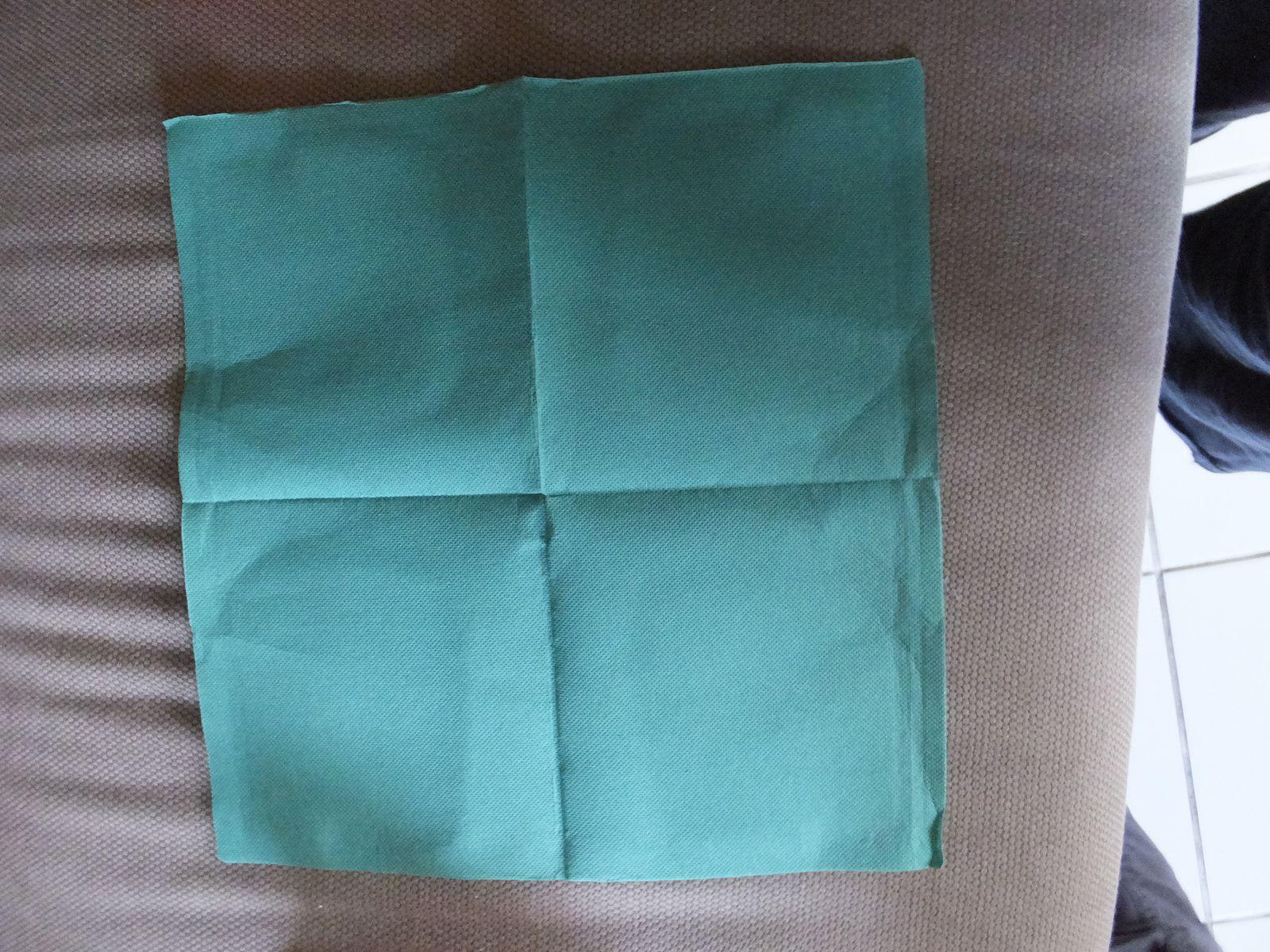 Repas de pâques le pliage de serviette (tuto simple et rapide)