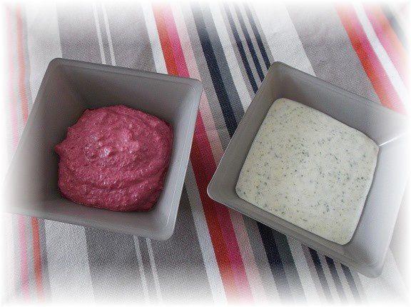 Crème rose et crème verte