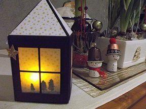 Bricolages de Noël (photophore, assiette, paniers)