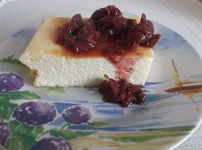 Cheesecake à la compotée de fruits rouges
